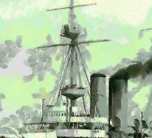 HMS Vengeance a British Battleship, 1902 Sticker