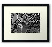 BW Turkey Istanbul view of city 1970s Framed Print