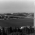 BW Turkey Istanbul Bosphorus bridge 1970s by blackwhitephoto