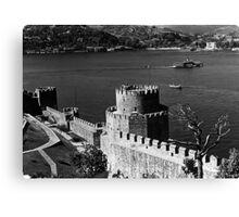 BW Turkey Istanbul Bosphorus fortress 1970s Canvas Print