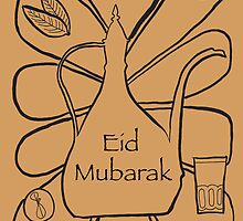 Moroccan Tea Eid Illustration - Middle Eastern Card by springwoodbooks