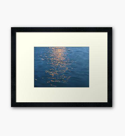 REFLECTION PATTERNS Framed Print