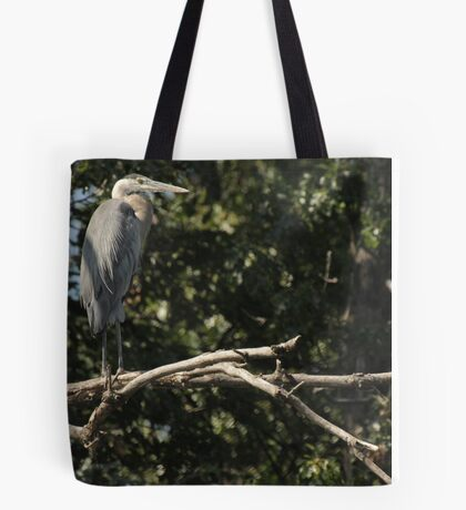 Great Blue Heron on the Wisconsin River Tote Bag