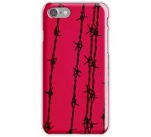 Barbwire I-phone red iPhone Case/Skin