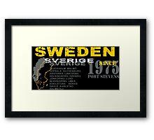 Sweden- Sverige Framed Print