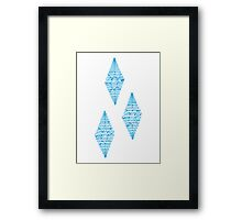 Rarity Cutie mark Typography Framed Print