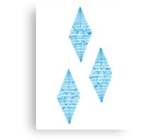 Rarity Cutie mark Typography Canvas Print