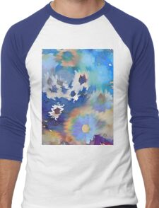 Welcome Spring Abstract Floral Digital Watercolor Painting 2 Men's Baseball ¾ T-Shirt
