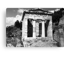 BW Greece Delphi Athenian Treasury 1970s Canvas Print
