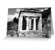 BW Greece Delphi Athenian Treasury 1970s Greeting Card