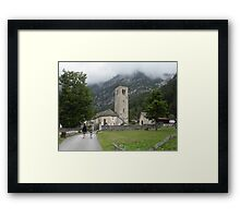 PILGRIMAGE MOUNTAIN trails - Monte Rosa - Italy - Europe- VETRINA RB EXPLORE 15 SETTEMBRE 2012 -- Framed Print