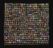 All pokemon by Stephen Dwyer