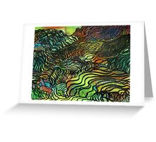 Terraced Landscape Greeting Card