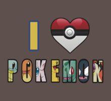 I Love Pokemon Kids Clothes