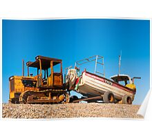 Boat, Crab fishing, Beached, Tractor, Trailer Poster