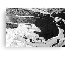 BW Greece Mycenae The chamber tombs 1970s Canvas Print