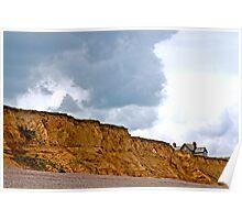 Landscape, Building, Cliff, Danger Poster