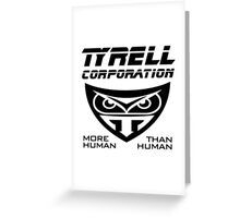 Blade Runner Tyrell Corporation Greeting Card