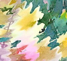 Welcome Spring Abstract Floral Digital Watercolor Painting 4 Sticker