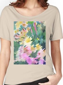 Welcome Spring Abstract Floral Digital Watercolor Painting 4 Women's Relaxed Fit T-Shirt