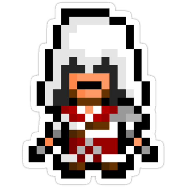 Pixel Ezio Auditore Da Firenze Sticker by PixelBlock