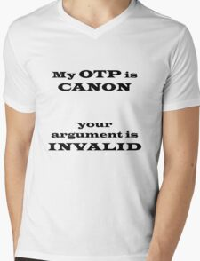 My OTP is CANON Mens V-Neck T-Shirt