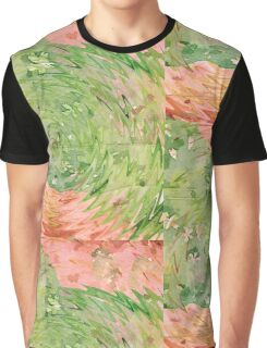 Welcome Spring Abstract Floral Digital Watercolor Painting 1 Graphic T-Shirt