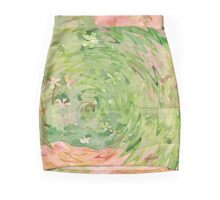 Welcome Spring Abstract Floral Digital Watercolor Painting 1 Mini Skirt