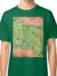 Welcome Spring Abstract Floral Digital Watercolor Painting 1 Classic T-Shirt