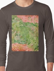 Welcome Spring Abstract Floral Digital Watercolor Painting 1 Long Sleeve T-Shirt