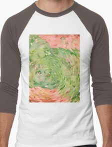 Welcome Spring Abstract Floral Digital Watercolor Painting 1 Men's Baseball ¾ T-Shirt