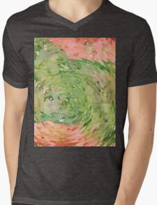 Welcome Spring Abstract Floral Digital Watercolor Painting 1 Mens V-Neck T-Shirt