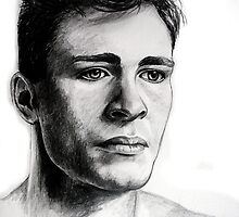 Colton Haynes, featured in Group-Gallery Art&Photography, Graphite Pencils by Françoise  Dugourd-Caput