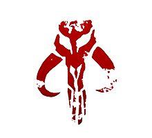 Mandalorian symbol in blood by HumorousChap