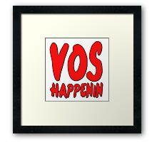 Vos Happenin One Direction Framed Print