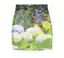 Garden with White Lavender Hydrangeas and Bluebells Mini Skirt