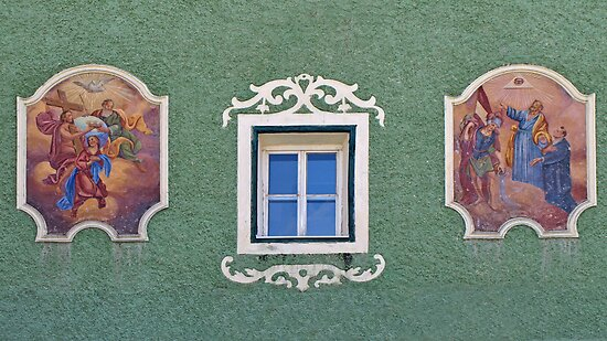 Religious Murals & Window.  by Lee d'Entremont