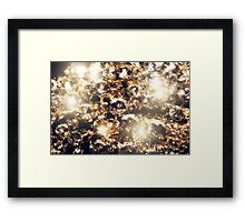 Diamonds and Gold Macro Framed Print