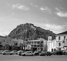 BW Greece Nafplion Venetian castle 1970s by blackwhitephoto