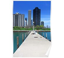 Chicago Boat Marina near Navy Pier  Poster