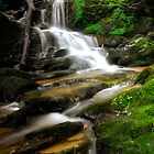 Peaceful Flowing Waterfall by KellyHeaton