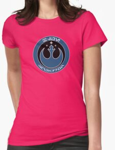 Star Wars Episode VII - Blue Squadron (Resistance) - Insignia Series Womens Fitted T-Shirt