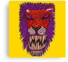 Monster Mondays #2 - Lionel Lion - Anger Monster! - Red and Orange Canvas Print