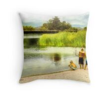 Brothers, Best Friends Throw Pillow