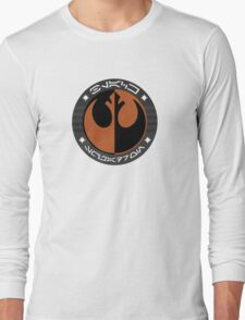 Star Wars Episode VII - Black Squadron (Resistance) - Insignia Series Long Sleeve T-Shirt