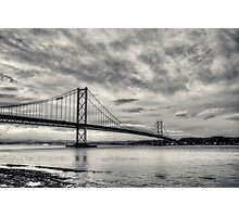 Forth Road Bridge Black & White Photographic Print