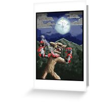 steampunk werewolf Greeting Card
