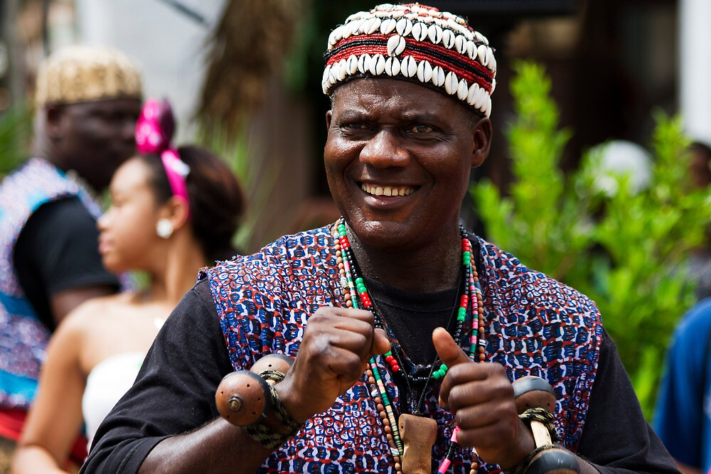 Member of an African Music and Dance Troupe by Ray Chiarello
