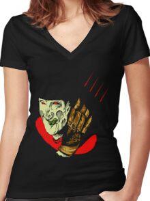 Freddy Krueger Women's Fitted V-Neck T-Shirt