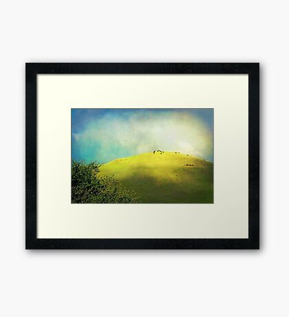 Cows on a Hill Framed Print